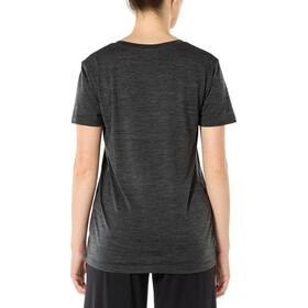 Icebreaker Ravyn V-Ausschnitt Kurzarm T-Shirt Damen jet heather